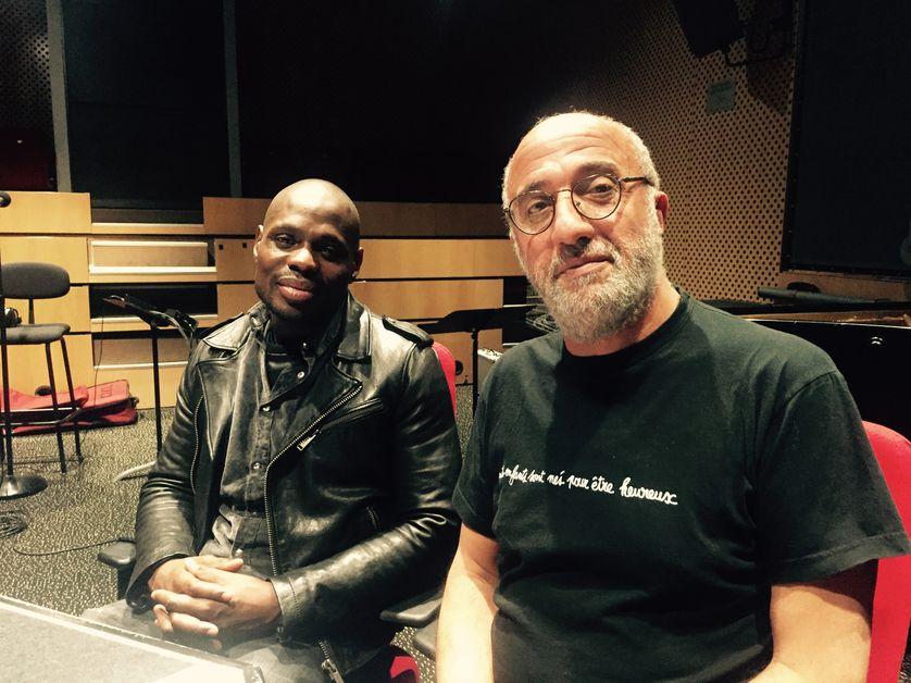 Kery James et Azzedine Zoghbi, son éducateur de la MJC d'Orly