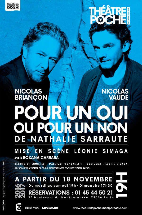 """""""Pour un oui ou pour un non"""" de Nathalie Sarraute, mise en scène de Léonie Simaga"""