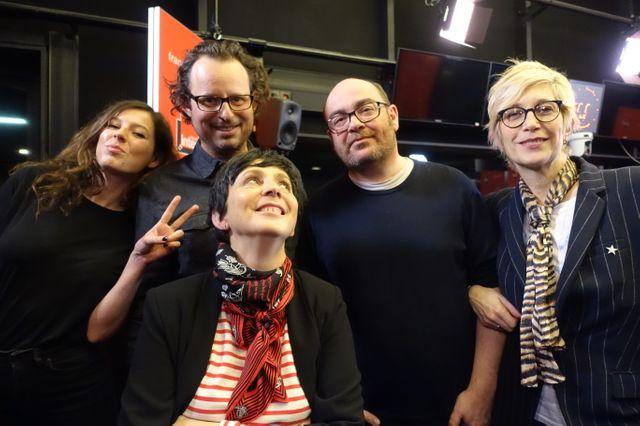 Carole Boinet, Jean-Baptiste Audibert, Marion Guilbaud, Christophe Conte et Valli
