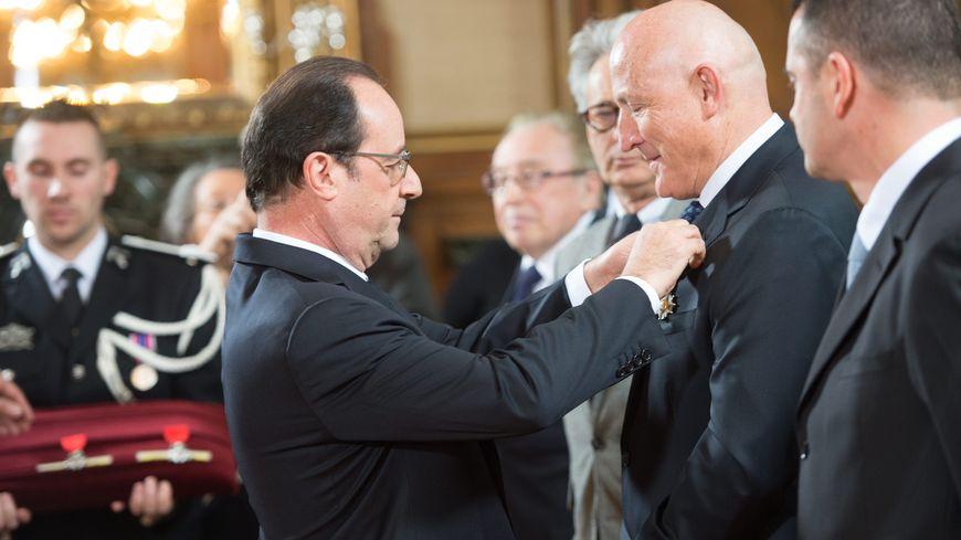 Jean-Claude Boisdevésy lors de la cérémonie de remise de la légion d'honneur en 2015