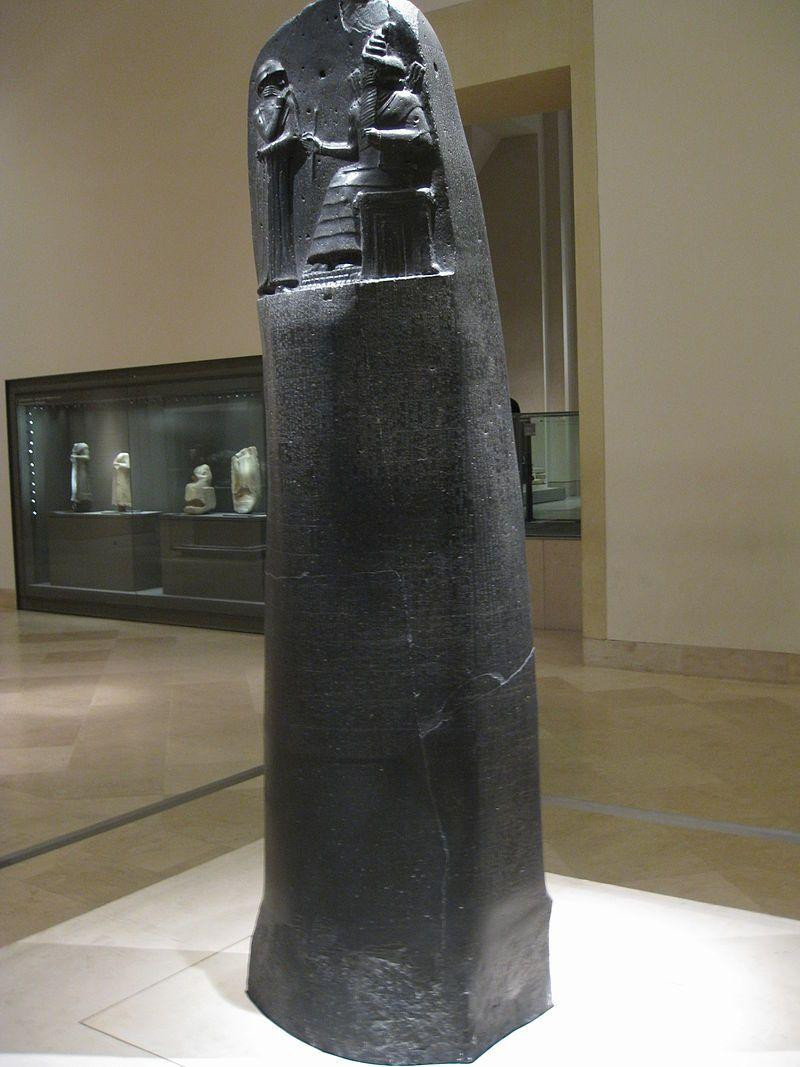 Stèle du Code de Hammurabi au musée du Louvre.