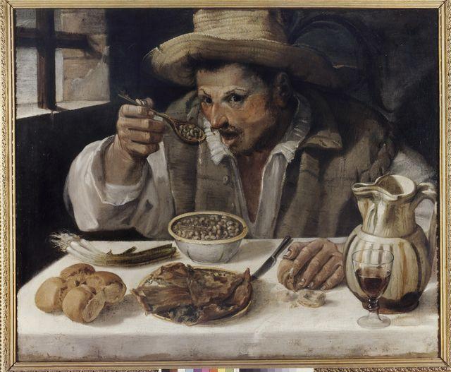 Le Mangeur de haricots d'Annibal Carrache 1584 conservé à Rome à la Galleria Colonna -