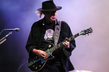 Neil Young aux Vieilles Charrues en juillet 2013