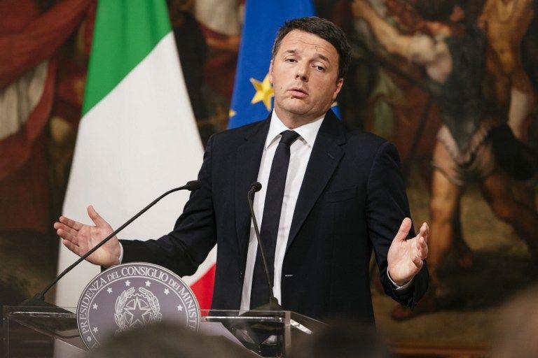 Matteo Renzi, 41 ans, arrivé au pouvoir en février 2014 sur un programme de  réforme a annoncé sa démission, tirant les  conséquences d'un référendum sur lequel il s'est totalement engagé.