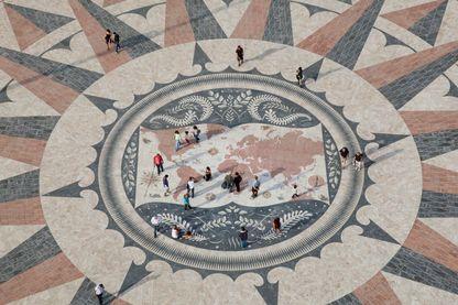 Carte mosaïque du monument des Découvertes, Lisbonne