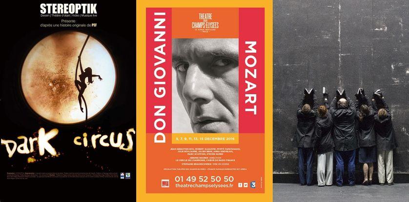 """Don Giovanni"", ""Dark Circus"" et ""Espaece"""