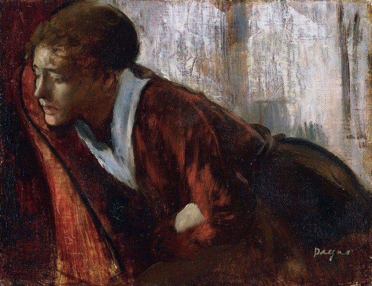 """""""La melancolie"""" Peinture d'Edgar Degas (1834-1917) 1884-1886 Musee d'art moderne Andre Malraux Le Havre"""