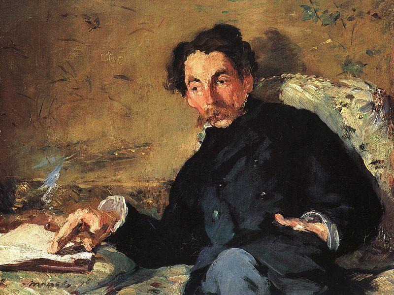 Edouard Manet, Portrait de Stéphane Mallarmé, 1876.