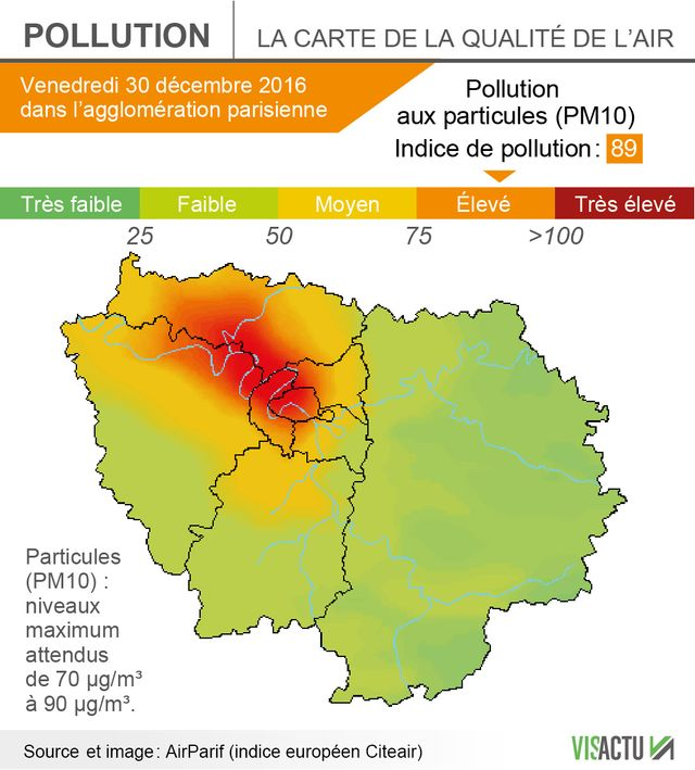 La pollution va s'aggraver ce vendredi