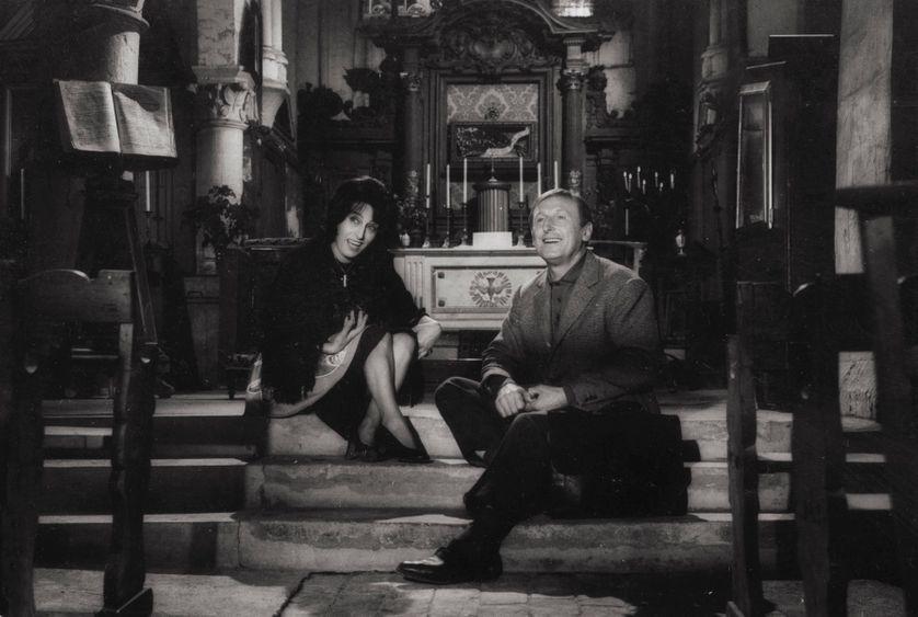 Anna Magnani et Bourvil dans le film de Claude Autant-Lara : Le magot de Josefa