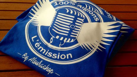 Le tee-shirt officiel de l'émission 100% Aiglon de France Bleu Azur