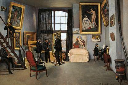 L'atelier de l'artiste, 1870, par Frédéric Bazille (1841-1870)