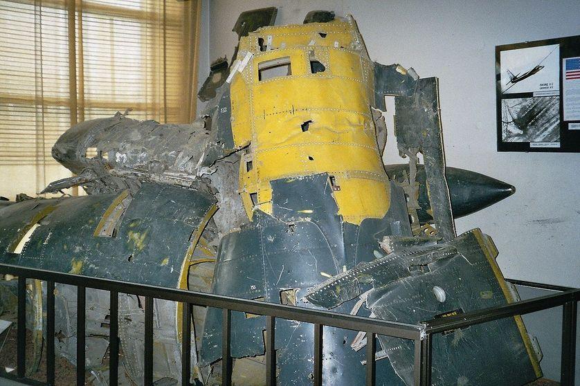 Restes de l'épave de l'U-2
