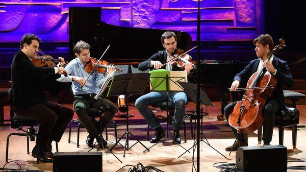 Le Quatuor Modigliani au Studio 104 de la Maison de la Radio