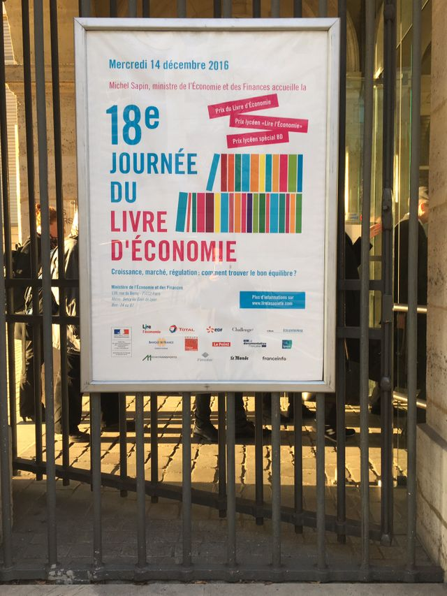 A Bercy, pour la 18ème journée du livre d'économie