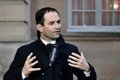 Benoît Hamon, vainqueur du deuxième tour de la primaire de la gauche