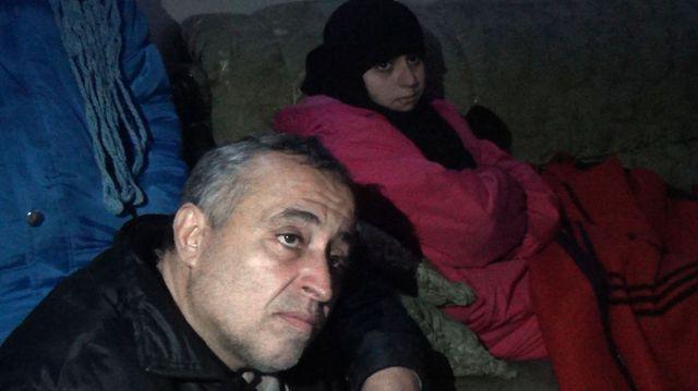 Nour avec son père Mahmoud