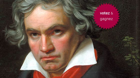Ludwig van Beethoven, peinture de Joseph Karl Stieler (détail) -DP