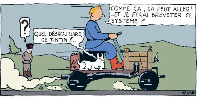 Case de Tintin au Pays des Soviets en couleurs