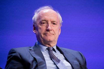 Hubert Védrine à la 9e édition du Forum Energie à l'Université Paris dauphine, à Paris, le jeudi 24 novembre 2016.