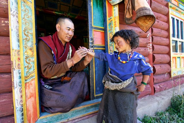 A la clinique (Tibet)