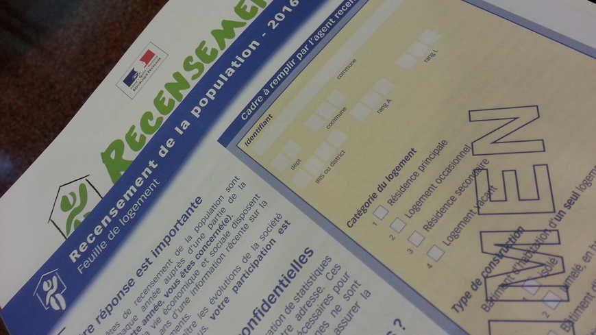 Un formulaire de recensement.
