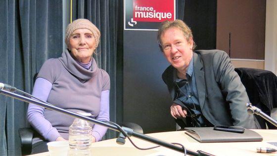 France Musiqie, studio 131... Zouzou évoque ses souvenirs au micro de Benoît Duteurtre  (de g.à d.)