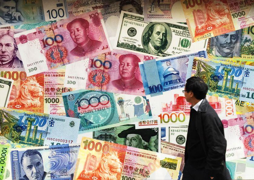Monnaies :  Yuan, US Dollar, Hong Kong Dollar...à Hong Kong