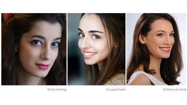 Raquel Camarinha © Paul Montag / Léa Desandre © Ledroit-Perrin / Catherine Trottmann © Thierry de Girval