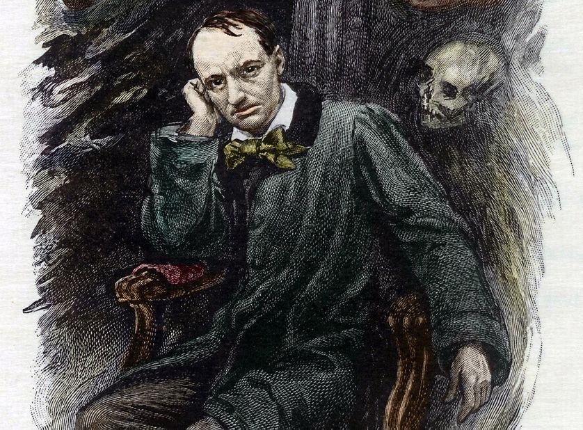 Portrait de Charles Baudelaire (1827-1861) entouré de ses fantômes