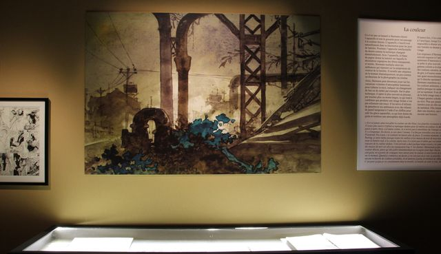 Dans l'exposition Hermann : la partie consacrée à la couleur.