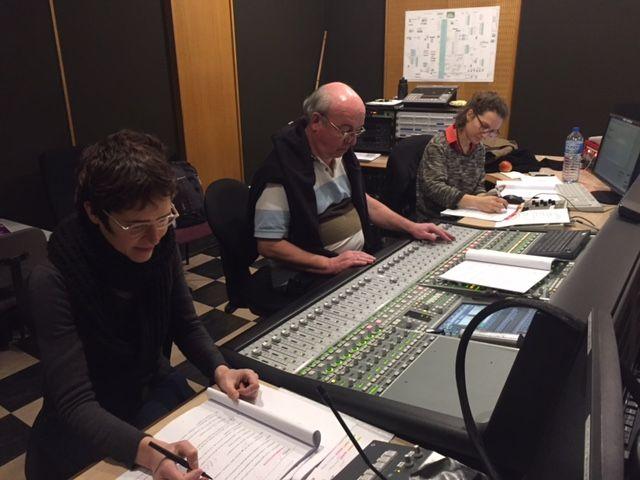 L enregistrement avec le technicien et la réalisatrice