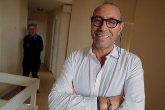 Jean-Pierre Boudhar, patron d'Immoclef loue des chambres a des anciens sans domicle fixe au dessus de l'agence de Lambersart