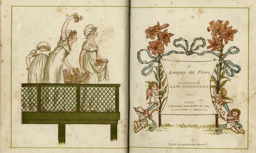 "Kate Greenaway ""Le Langage des Fleurs"", 1884"