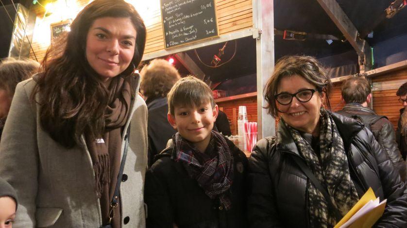 France Culture, 16 décembre 2016, Théâtre Le-Monfort quelques minutes avant la première !... Avec Raphael et sa maman au micro de Aline Pailler (de g. à d.)