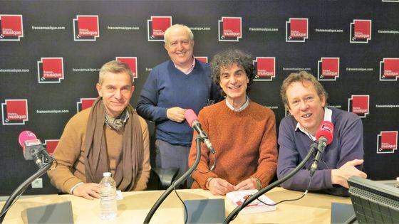 France Musique, studio 141, 31 décembre 2016... Eric Sarfati, Serge Elhaïk, Francesco Rapazzini & le producteur Benoît Duteurtre (de g. à d.)