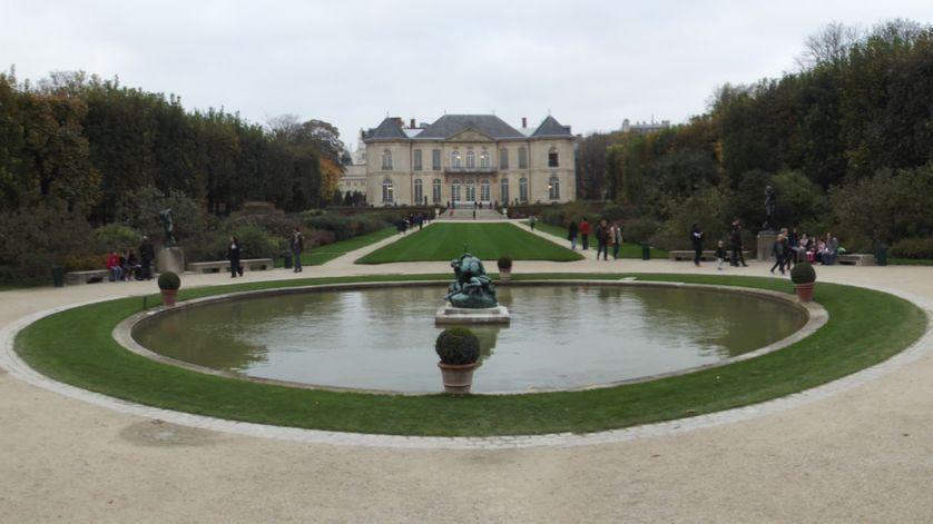 Vue du Musée Rodin.