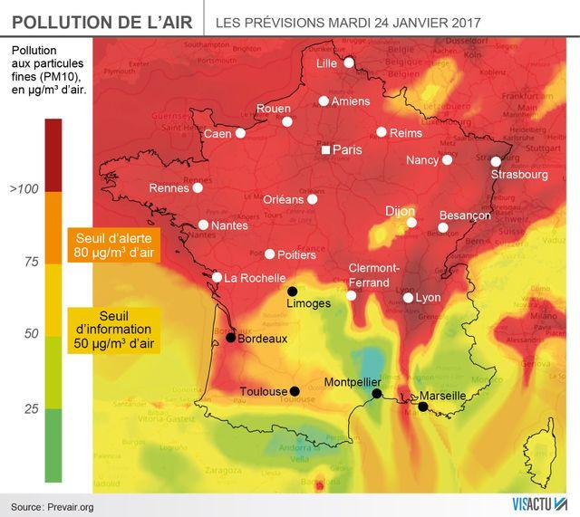L'épisode de pollution de l'air qui touche la France devrait se poursuivre dans les prochains jours
