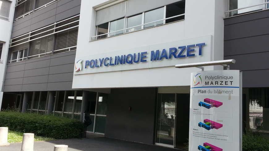 L'entrée de la clinique Marzet à Pau