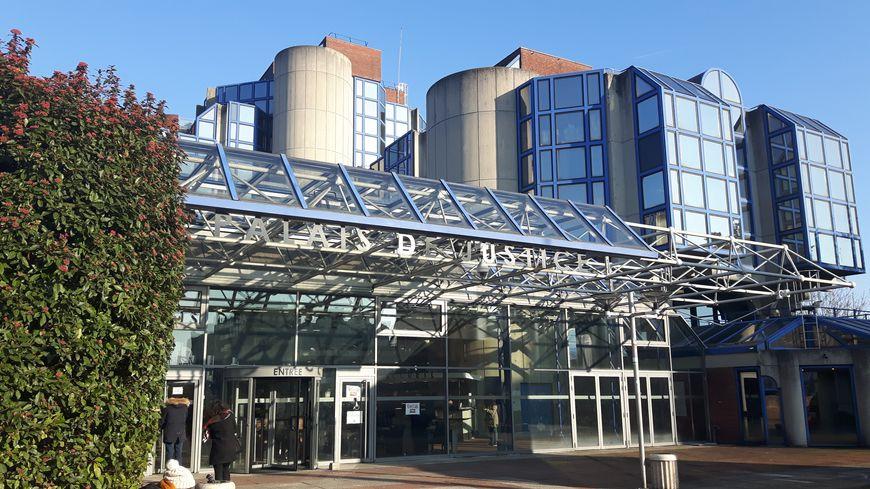 L'entrée du palais de justice de Bobigny