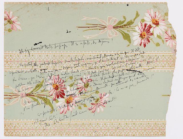 Jacques Audiberti. Notes sur papier peint pour Monorail (Éditions Egloff, 1947), [1944]. Fonds Jacques Audiberti / IMEC