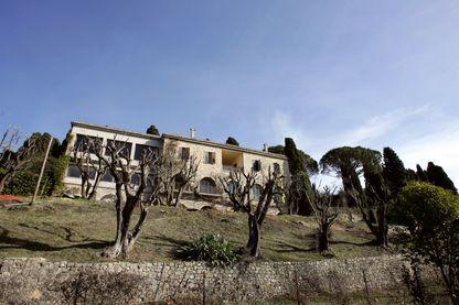 La villa de Pablo Picasso (1881-1973), prise le 5 février 2008 à Mougins, dans laquelle le peintre espagnol passa les dernières années de sa vie.