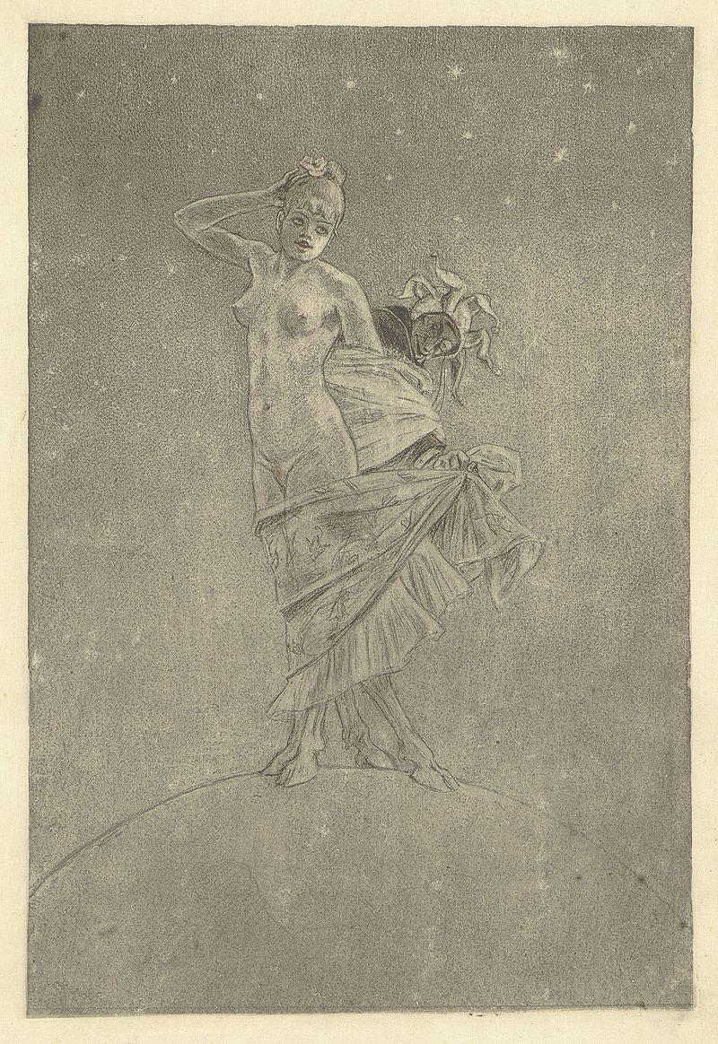 Félicien Rops, La Femme et la folie dominant le monde II, v.1886, Royal Library of Belgium.