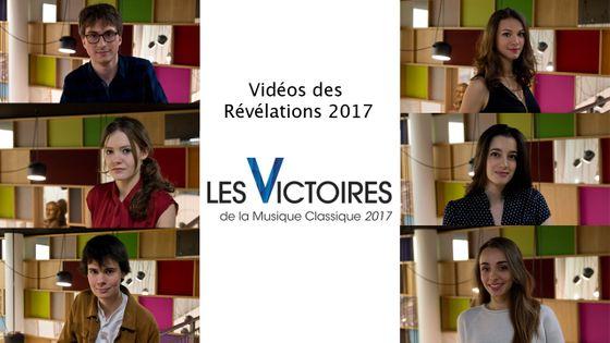 Découvrez les vidéos des 6 candidats nommés au Révélations des Victoires de la Musique Classique 2017
