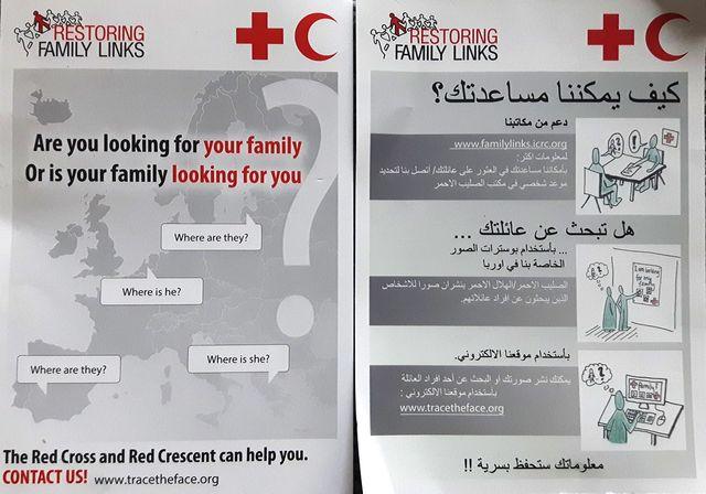 Un des tracts de recherche de la Croix-Rouge