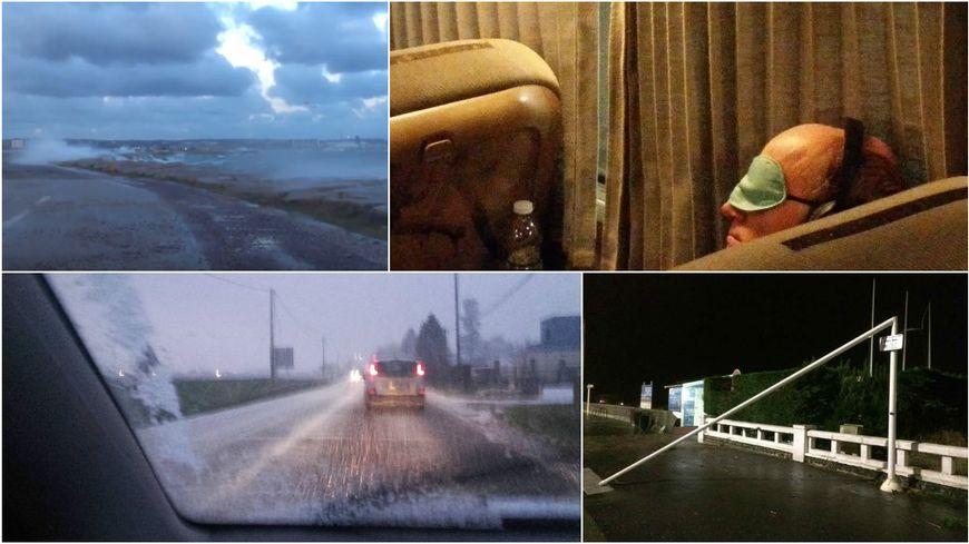 La Normandie dans la tempête dans la nuit de jeudi à vendredi.