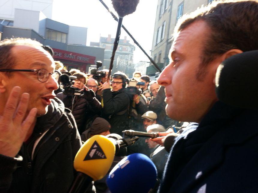 Emmanuel Macron est allé à la rencontre des clermontois