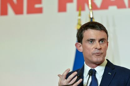 Manuel Valls, candidat à la primaire de la Belle Alliance Populaire, lors de la présentation de son programme