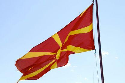 Le drapeau de La Mécédoine