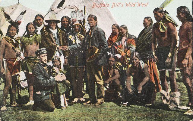 Carte postale colorisée, diffusée en France lors de la tournée de 1905